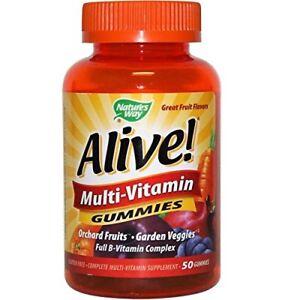 Nature's Way Alive! Multi-Vitamin, Orchard Fruit/Garden Veggies 50 Ct (2 Pack)