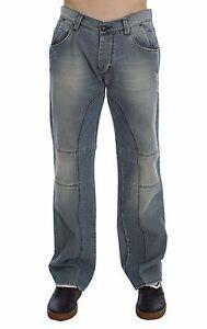 NEW ERMANNO SCERVINO Jeans Blue Wash Cotton Denim Baggy Fit s. W34 / IT48