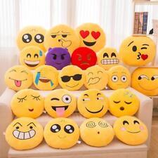 Yellow Round Cushion Emoji Emoticon Stuffed Plush Toy Doll Smiley Pillow RS#27