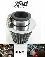 Chrome Air Filter 35 MM Clamp On Kawasaki KH100 KH250 KH125 KH 400 KH MOTO3