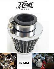 Chrome Air Filter 35 MM Clamp On Kawasaki KH100 KH250 KH125 KH 400 KH 100 125