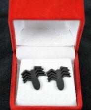 Black SPIDER-MAN FIGURAL STUD EARRINGS Inox / Marvel MIB