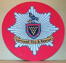 Fire and Rescue Service Cornwall vinyl sticker personalised..