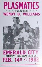 "Plasmatics Concert Poster 1982 ft. Wendy O. Williams - Emerald City, NJ 14""x22"""
