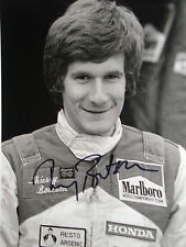Thierry Boutsen signé Bridgestone original Press photo, F2 esprit portrait 1982