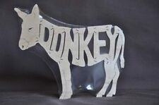 Donkey or Miniature Donkey Horse Wooden Scroll Saw Puzzle Tack Room Toy
