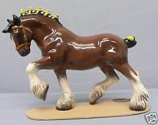 Retired Ribbon Color Hagen Renaker Clydesdale Draft Horse