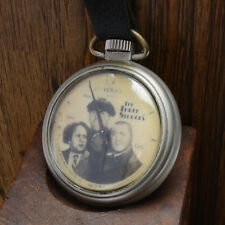 "VINTAGE WESTCLOX ""THE THREE STOOGES POCKET WATCH"" COLLECTIBLE ANTIQUE RUNNING"