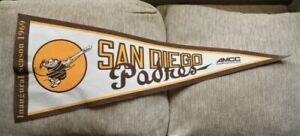 Gift Pendant Childhood Memory Vintage Pennant Flag San Diego Padres Souvenir