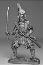 HISTORICAL TIN FIGURES SAMURAI JAPAN KATO KIYOMASA WITH SWORD 1590 54MM 1/32 SA8