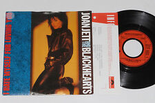 """JOAN JETT AND THE BLACKHEARTS -I Hate...- 7"""" 45 mit Product Facts Promo-Flyer"""