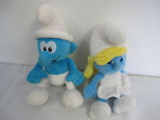 SMURFETTE & TALKING  SMURF PLUSH (2) TOYS JAKKS PACIFIC