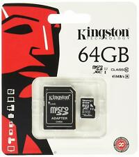 Kingston Digital 64 GB microSD Class 10 UHS-1 Memory Card 30MB/s with Adapter