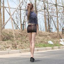 Women Ladies Sexy Elastic Tights Package Hip Short Skirt Flush Butt Black Micro