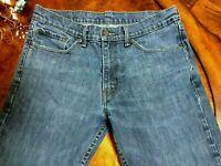 Levi's 511 Slim Mens Jeans Size 34 x 31 32 Med Blue Denim 5-pocket Zip Stretch