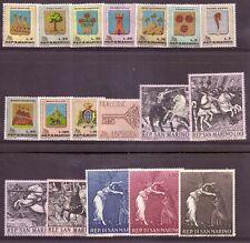 1968 San Marino Annata Completa Nuovi Come Unificato 18 Valori Integri