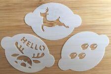 Face paint stencils christmas reindeer theme 3 stencils 190 Myler reusable