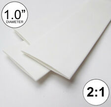 """1.0"""" ID White Heat Shrink Tube 2:1 ratio 1"""" wrap (2x24""""= 4 ft) inch/feet/to 25mm"""