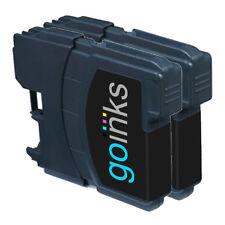 2 Cartuchos de Tinta Negra Compatible con Brother DCP-J125, MFC-J265W, DCP-J315W