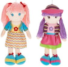 """NWT 19"""" Playmaker Toys Lollypop Doll Soft Bodied Rag Plush- 2 PC SET"""
