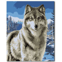 40cm Animal DIY Paint By Number Kit Digital Oil Painting Art Wall Home Decor