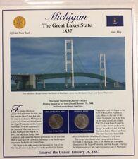 2004 Postal Commemorative Society Statehood Quarters Michigan P&D