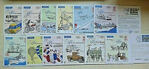 London 1980 Stamp Exhibition ~ 12 Covers Of Transport Inc Concorde Ship Horse