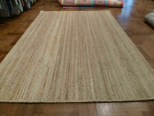 Rug 100% Natural Jute Rectangle Large Scandi style Natural reversible rustic rug