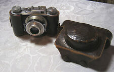 WIRGIN EDINEX VINTAGE 35MM GERMAN CAMERA 2.8/50 LENS  & LEATHER CASE  T*