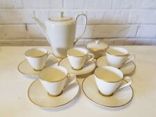Rosenthal Bettina Teaset with 5 Cups and Saucers with Gold Trim