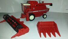 1/64 ERTL custom international 1440 combine farm toy with both heads.