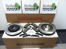 Toyota Camry 2007-2016 New Genuine OEM Front Brake Rotors Pad Kit & Shim Kit