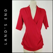 Land's End Woman Career Formal Ruched Blouse Top XS Nwot