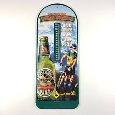 Vintage Moosehead Lager Beer Indian Summer Metal Thermometer 2' 1999 Gambrinus