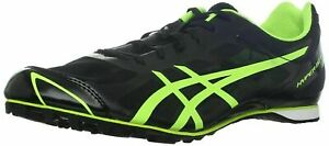 Asics Hyper MD Track Shoes NEW Men's 11 Black/Neon (Includes Spikes & Key)