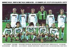 BORUSSIA MONCHENGLADBACH TEAM PRINT 1977 (EUROPEAN CUP FINALISTS))