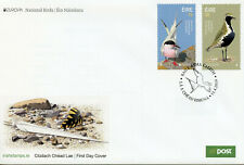 Ireland 2019 FDC National Birds Europa 2v Set Cover Terns Plovers Waders Stamps