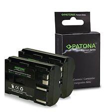x2 batterie bp-511 premium 1600 mah per canon 0D | 20D | 20Da | 30D | 40D | 300D