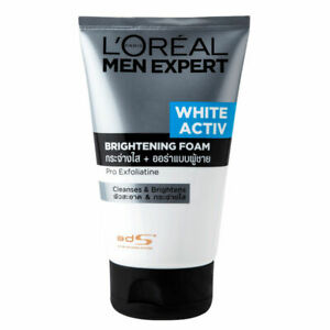 L'Oreal Paris Men Expert White Activ Brightening Foam 100ml removes impurities