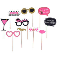 10pcs/Set Bachelor Party Photo Booth Props Wedding Decor to be Bride Bridegroom