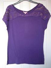 M&S Per Una Purple Top Size 12 BNWT