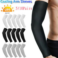 10 Pair Cooling Arm Sleeves Cover UV Sun Protection Outdoor Sports For Men Women