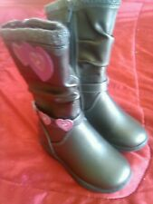 Disney's Princess Girls Toddler Size 6 Grey Silver Winter Boots Faux Leather NWT