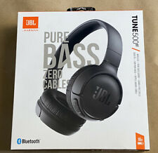 JBL Pure Bass Wireless On-Ear Headphones With Mic - (Black)