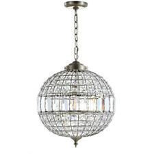JONATHAN Y Georgina 16 in. 1-Light Antique Brass LED Chandelier Pendant