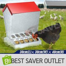 Galvanized Steel Chicken Feeder Poultry Feeder Supplies W/ waterproof Lid 10KG