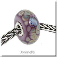 Authentic Trollbeads Glass 62019 Purple Flower Mosaic :0