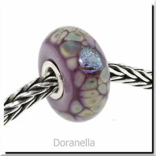 Authentic Trollbeads Glass 62019 Purple Flower Mosaic :0