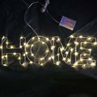 "LED Sign 19"" x 5.5"" Home Glow Light Bar Decor Wall Hanging Gift Neon Alternative"