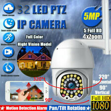 32 LED 5MP 1080P WIFI IP Camera Wireless Outdoor CCTV PTZ Smart Security IR Cam